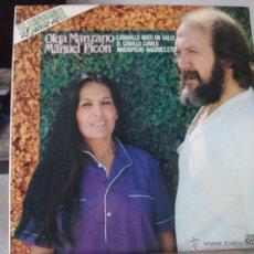 Discos de vinilo: DOBLE LP RECOPILATORIO DE OLGA MANZANO Y MANUEL PICÓN (AÑO 1981), SERIE GONG, VER FOTOS. Lote 50734332