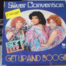 Discos de vinilo: LP DE SILVER CONVENTION, GET UP AND BOOGIE, EDICION ESPECIAL PARA LA CAJA DE AHORROS SAGRADA FAMILIA. Lote 50734381