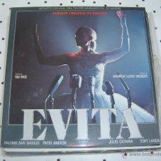 Discos de vinilo: EEVITA REPARTO ORIGINAL DELTEATRO MONUMENTALMADRID V.O. EN ESPAÑOL PALOMA SAN BASILIO PATXI ANDION+. Lote 50737756