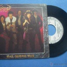 Discos de vinilo: ÑU MAS,QUIERO MAS SINGLE SPAIN 1984 PROMO PDELUXE. Lote 50748290