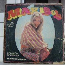 Discos de vinilo: SINGLE DE MARISOL: CORAZÓN CONTENTO - AÑO 1968. Lote 50753665