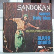 Discos de vinilo: SINGLE DE SANDOKAN: SWEET LADY BLUE - AÑO 1976. Lote 50753732