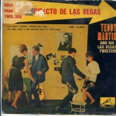Discos de vinilo: TEDDY MARTIN AND HIS LAS VEGAS TUWISTERS / THE 400 TWIST + 3 (EP 1962). Lote 101541747