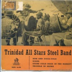 Dischi in vinile: TRINIDAD ALL STARS STELL BAND / RUM AND COCA-COLA / DIANA + 2 (EP 1961). Lote 50754454