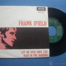 Discos de vinilo: FRANK IFIELD LET ME INTO YOUR LIFE SINGLE SPAIN 1969 PROMO PDELUXE. Lote 50756876