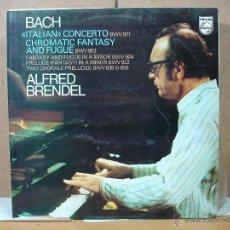 Discos de vinilo: BACH - ITALIAN CONCERTO / CHROMATIC FANTASY AND FUGUE. ALFRED BRENDEL - PHILIPS 95 00 353 - 1978. Lote 50762494