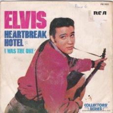 Discos de vinilo: ELVIS PRESLEY,HEARTBREAK HOTEL EDICION FRANCESA. Lote 50769639