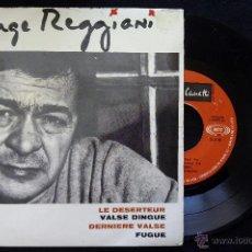 Discos de vinilo: SERGE REGGIANI, LE DESERTEUR +3 (SONOPLAY 1968) SINGLE EP ESP- BORIS VIAN EL DESERTOR VALSE DINGUEG. Lote 50769850