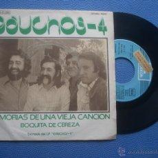 Discos de vinilo: LOS GAUCHOS - 4 MEMORIAS DE UNA VIEJA CANCION SINGLE SPAIN 1974 PDELUXE. Lote 50779325