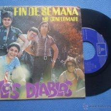 Discos de vinilo: LOS DIABLOS FIN DE SEMANA SINGLE SPAIN 1971 PDELUXE. Lote 50779714