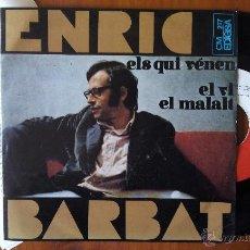 Discos de vinilo: ENRIC BARBAT, ELS QUI VENEN (EDIGSA 1968) SINGLE EP + LLETRES - EL VI EL MALALT. Lote 50785078