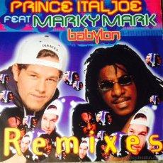 Discos de vinilo: PRINCE ITAL JOE FEAT. MARKY MARK - BABYLON (REMIXES) . MAXI SINGLE . 1995 GERMANY. Lote 50787817