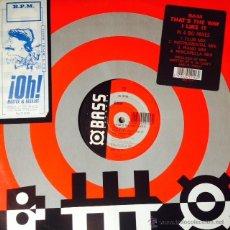 Discos de vinilo: BAM - THAT'S THE WAY I LIKE IT . MAXI SINGLE . 1994 UK . Lote 50788120