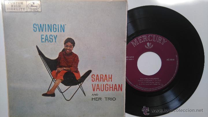 SARAH VAUGHAN- (SWINGIN EASY)- SHULIE A BOP +3- SPANISH EP . (Música - Discos de Vinilo - EPs - Jazz, Jazz-Rock, Blues y R&B)