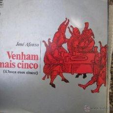 Discos de vinilo: JOSE AFONSO , VENHAM MAIS CINCO , CHOCA ESAS CINCO 1974 . Lote 50804291