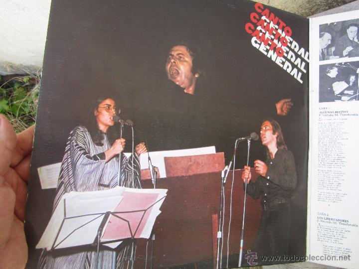 Discos de vinilo: mikis theodorakis , canto general , pablo neruda , doble LP 1976 - Foto 3 - 50804472