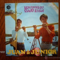 Discos de vinilo: JUAN & JUNIOR - NOS FALTA FE + BAJO EL SOL. Lote 50822055