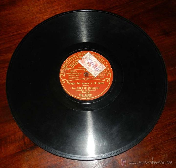 DISCO ODEON PIZARRA, SOR. POZO, EL MOCHUELO, TANGO DEL NIÑO DE CERA Nº 41247, TANGO DEL MONO Y EL PE (Música - Discos - Singles Vinilo - Clásica, Ópera, Zarzuela y Marchas)