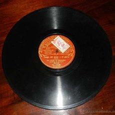 Discos de vinilo: DISCO ODEON PIZARRA, SOR. POZO, EL MOCHUELO, TANGO DEL NIÑO DE CERA Nº 41247, TANGO DEL MONO Y EL PE. Lote 50825613