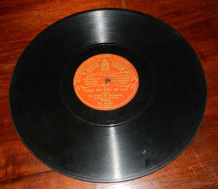 Discos de vinilo: DISCO ODEON PIZARRA, SOR. POZO, EL MOCHUELO, TANGO DEL NIÑO DE CERA Nº 41247, TANGO DEL MONO Y EL PE - Foto 3 - 50825613
