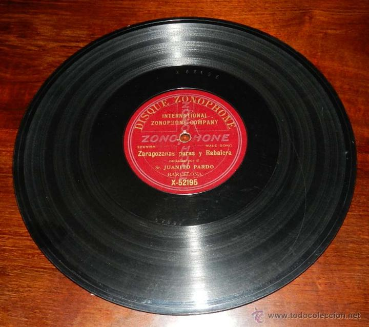 DISCO PIZARRA ZONOPHONE, JUANITO PARDO, JOTAS, ZARAGOZANAS PURAS Y RABALERA Nº X-52195, BUEN ESTADO (Música - Discos - Singles Vinilo - Clásica, Ópera, Zarzuela y Marchas)