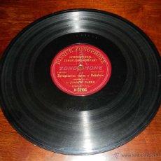 Discos de vinilo: DISCO PIZARRA ZONOPHONE, JUANITO PARDO, JOTAS, ZARAGOZANAS PURAS Y RABALERA Nº X-52195, BUEN ESTADO. Lote 50826399