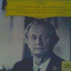 Discos de vinilo: LUDWIG VAN BEETHOVEN - SONATA Nº 8 PATÉTICA, SONATA Nº 14 CLARO DE LUNA, SONATA Nº 23 APPASSIONATA,. Lote 50830333