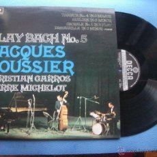 Discos de vinilo: JACQUES LOUSSIER PLAY BACH Nº 5 LP SPAIN 1975 PDELUXE. Lote 50851415