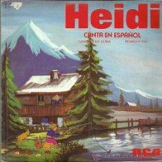 Discos de vinilo: HEIDI SINGLE SELLO RCA VICTOR AÑO 1975 EDITADO EN ESPAÑA. Lote 50860700