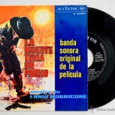 Discos de vinilo: LA MUERTE TENÍA UN PRECIO - ENNIO MORRICONE - EP RCA VICTOR 1966. Lote 50886796
