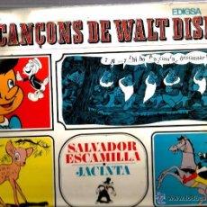 Discos de vinilo: P JACINTA & SALVADOR ESCAMILLA :LES CANÇONS DE WALT DISNEY ( PINOTXO, BLANCANEUS, BAMBI, DUMBO, ETC. Lote 50890660