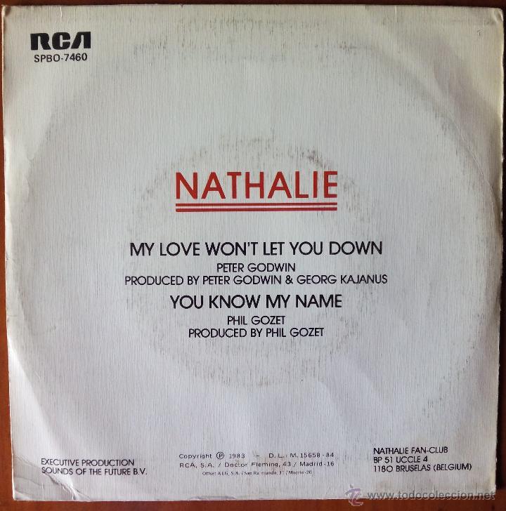Discos de vinilo: NATHALIE, MY LOVE WON'T LET YOU DOWN (RCA 1983) SINGLE PROMOCIONAL ESPAÑA - Foto 2 - 50905769