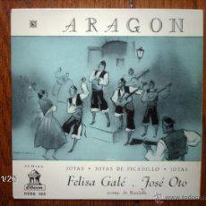 Discos de vinilo: FELISA GALE Y JOSE OTO - ARAGON - JOTAS Y JOTAS DE PICADILLO - EL AEROPLANO + 6. Lote 50911604
