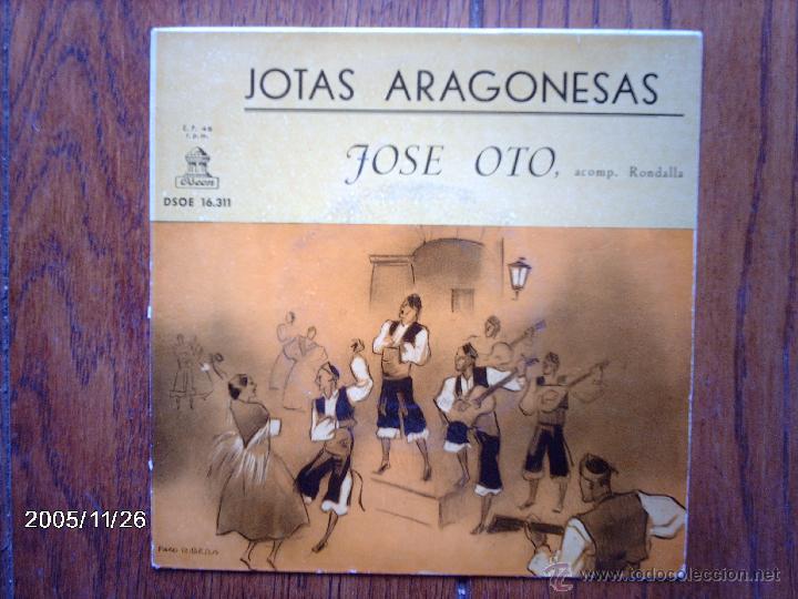 JOSE OTO - JOTAS ARAGONESAS - DE BRILLANTES Y CORONAS + 7 (Música - Discos de Vinilo - EPs - Étnicas y Músicas del Mundo)
