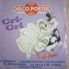 Discos de vinilo: CRI CRI. Lote 50924415