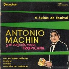 Discos de vinilo: ANTONIO MACHIN Y EL CONJUNTO VOCAL TROPICANA - EP - 1960,.. Lote 50931240