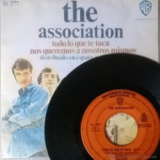 Discos de vinilo: ASSOCIATION. TODO LO QUE TOCA/ NOS QUEREMOS A NOSOTROS MISMOS. WB-HISPAVOX, ESP. 1968 COPIA CUBIERTA. Lote 50939332