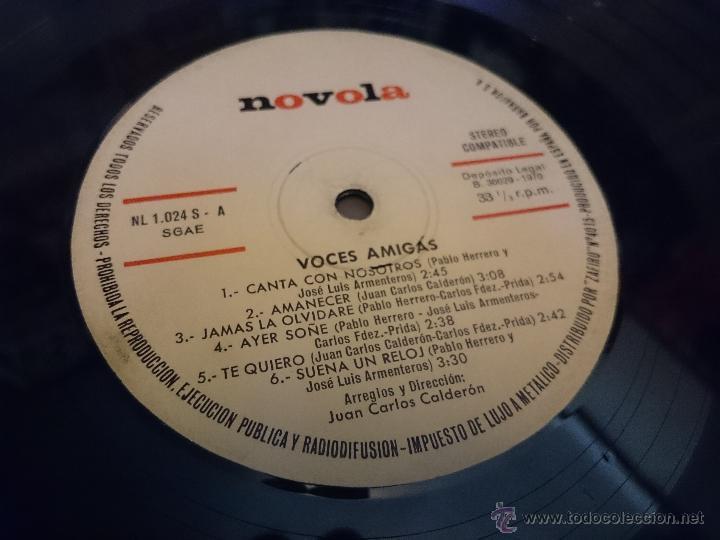 Discos de vinilo: Voces amigas lp Disco de vinilo Novola NL1024 - Foto 4 - 50941399