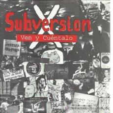 Discos de vinil: SUBVERSION X EP PITITAKO KOLEKTIBOA 1994 VEN Y CUENTALO/ REVOLUCION +2 PUNK MUY RARO Y ESCASO. Lote 50943589