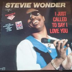 Discos de vinilo: STEVIE WONDER - I JUST CALLED TO SAY I LOVE YOU - 1984. Lote 50944596