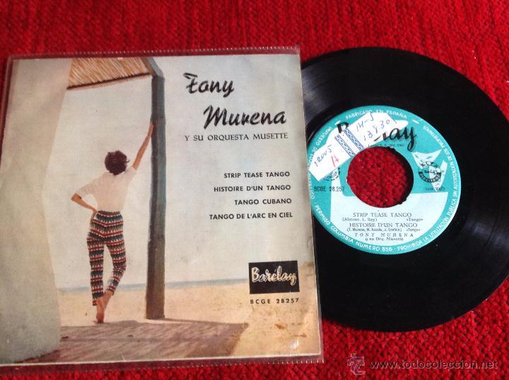 TONY MURERA Y SU ORQUESTA MUSETTE EP (Música - Discos de Vinilo - Maxi Singles - Pop - Rock Internacional de los 50 y 60)