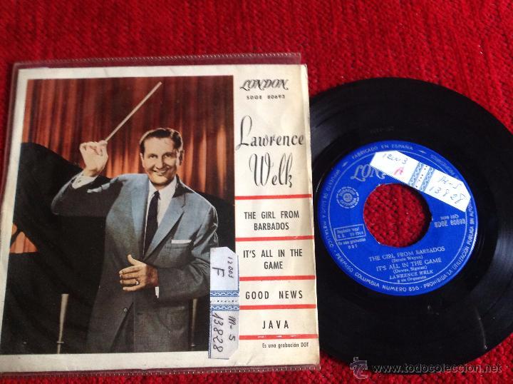 LAWRENCE WELK EP THE GIRL FROM BARABADOS + 3 TEMAS (Música - Discos de Vinilo - Maxi Singles - Pop - Rock Internacional de los 50 y 60)