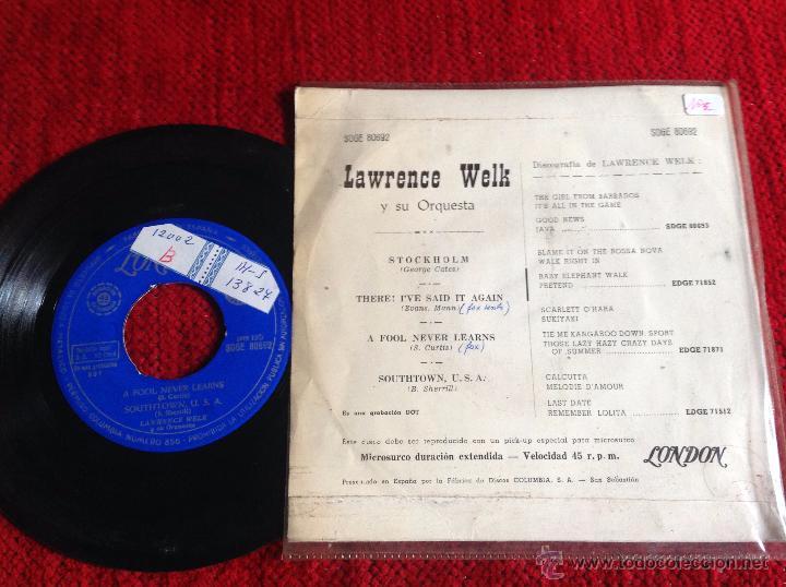Discos de vinilo: LAWRENCE WELK EP Stockholm + 3 temas - Foto 2 - 50945360