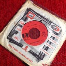 Discos de vinilo: THE BEATLES SG. YELLOW SUBMARINE + ELEANOR RIGBY EDIC. FRANCESA. Lote 50947271