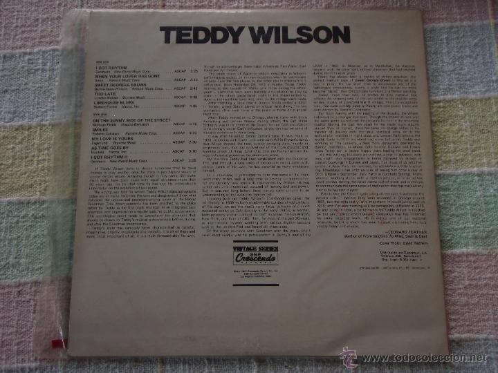 Discos de vinilo: TEDDY WILSON ( TEDDY WILSON ) 1981 - SPAIN LP33 DISCOPHON - Foto 2 - 50948811