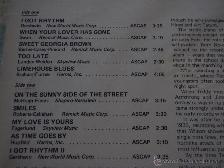 Discos de vinilo: TEDDY WILSON ( TEDDY WILSON ) 1981 - SPAIN LP33 DISCOPHON - Foto 3 - 50948811