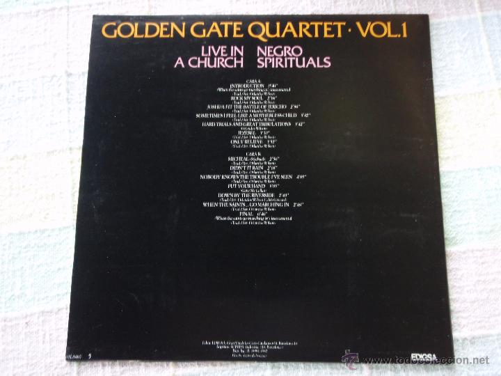Discos de vinilo: GOLDEN GATE QUARTET ( LIVE IN A CHURCH ) NEGRO SPIRITUALS 1982 - SPAIN LP33 - Foto 2 - 50948887