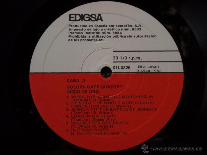 Discos de vinilo: GOLDEN GATE QUARTET ( DISCO DE ORO ) 1982 - BARCELONA LP33 EDIGSA - Foto 5 - 50948942