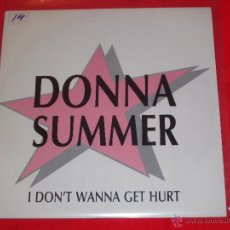 Discos de vinilo: DONNA SUMMER - I DON'T WANNA GET HURT - MADE IN SPAIN 1989 - PROMO - SINGLE. Lote 50950327