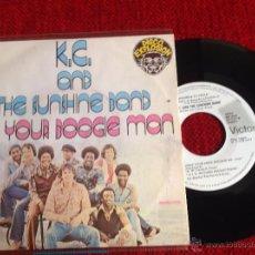 Discos de vinilo: K.C. AND THE SUNSHINE BAND SG. I´M YPUR BOOGIE MAN PROMO. Lote 50954097